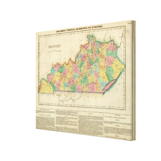 Map Of Kentucky Gallery Wrapped Canvas