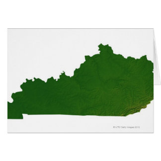 Map of Kentucky Card