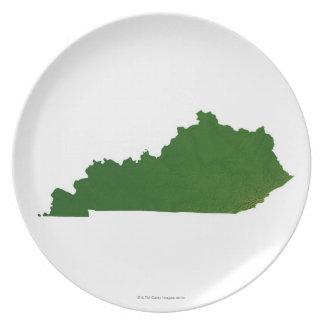 Map of Kentucky Plate