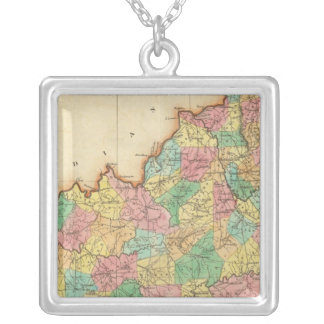 Map Of Kentucky Silver Plated Necklace