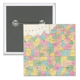 Map of Kentucky & Tennessee 15 Cm Square Badge