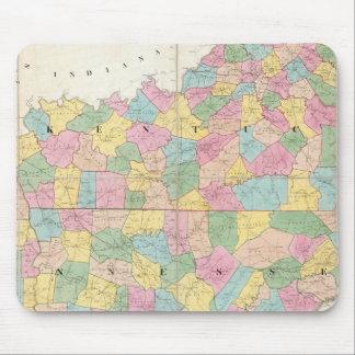 Map of Kentucky & Tennessee Mouse Mat