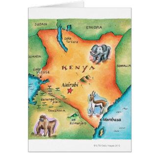 Map of Kenya Card