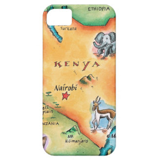 Map of Kenya Case For The iPhone 5
