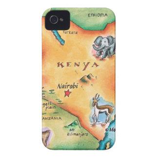 Map of Kenya iPhone 4 Case