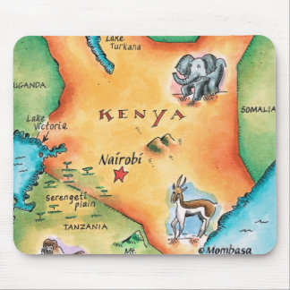 Map of Kenya Mouse Mat