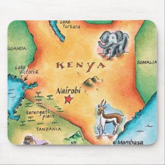 Map of Kenya Mouse Mat