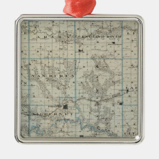 Map of Keokuk County, State of Iowa Christmas Ornament