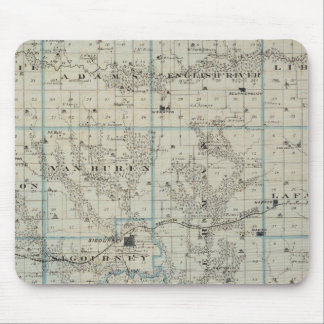 Map of Keokuk County, State of Iowa Mouse Mat