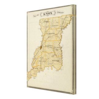 Map of Knox County Canvas Print