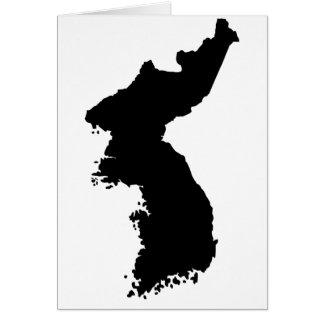 Map of Korea Card