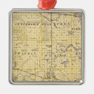 Map of Kosciusko County Christmas Ornament