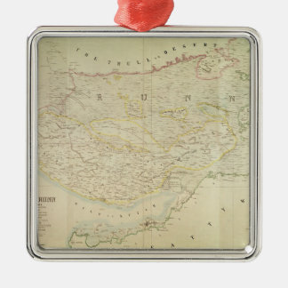 Map of Kutch and Runn, India, 1854 Christmas Ornament