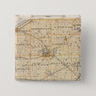 Map of La Porte County 15 Cm Square Badge
