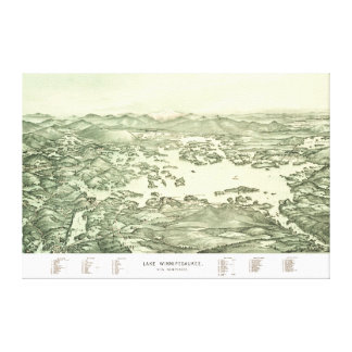 Map of Lake Winnipesaukee from 1903 Canvas Print
