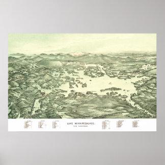 Map of Lake Winnipesaukee from 1903 Poster