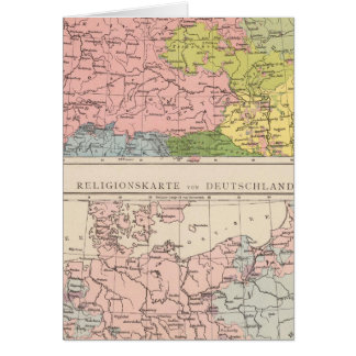 Map of Languages and Religions in Germany Card