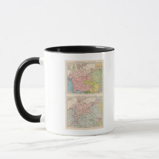 Map of Languages and Religions in Germany Mug