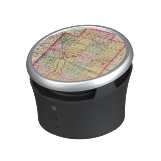 Map of Lapeer County, Michigan Bluetooth Speaker