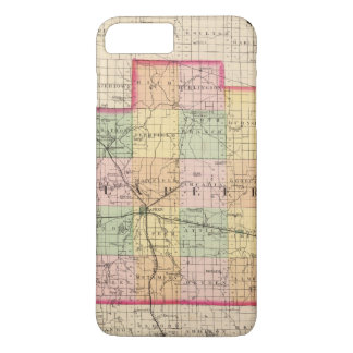 Map of Lapeer County, Michigan iPhone 8 Plus/7 Plus Case