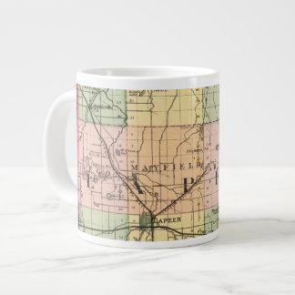Map of Lapeer County, Michigan Large Coffee Mug
