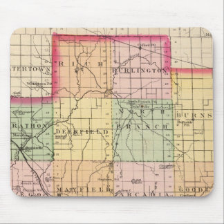 Map of Lapeer County, Michigan Mouse Mat