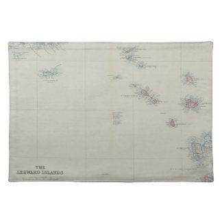 Map of Leeward Islands Placemat