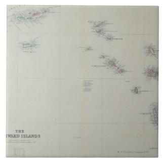 Map of Leeward Islands Tile