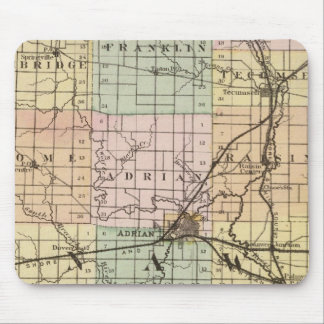 Map of Lenawee County, Michigan Mouse Mat