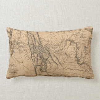 Map of Lewis & Clark's Across Western America 1814 Lumbar Cushion