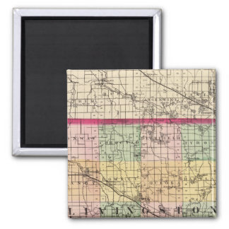 Map of Livingston County, Michigan Magnet