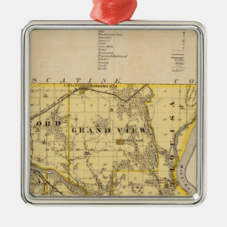 Map of Louisa County, State of Iowa Christmas Ornament