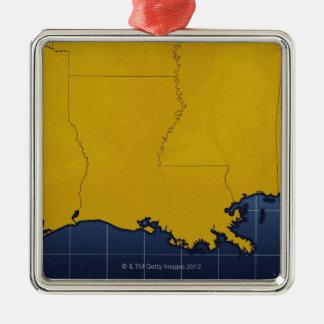 Map of Louisiana 2 Christmas Ornament