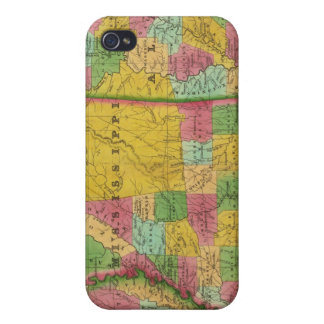 Map of Louisiana, Mississippi and Alabama iPhone 4/4S Cover