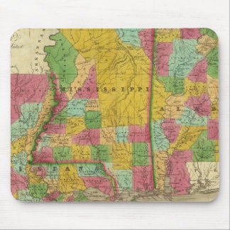 Map of Louisiana, Mississippi and Alabama Mouse Mat