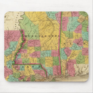 Map of Louisiana Mississippi And Alabama Mouse Mat
