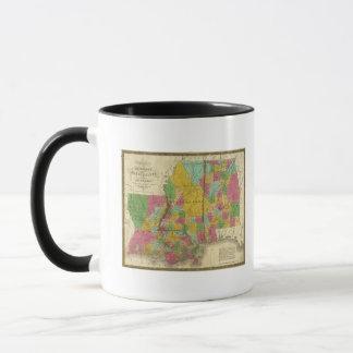Map of Louisiana, Mississippi and Alabama Mug