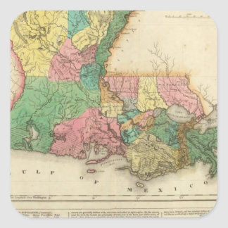 Map Of Louisiana Square Sticker