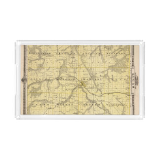 Map of Lucas County, State of Iowa Acrylic Tray