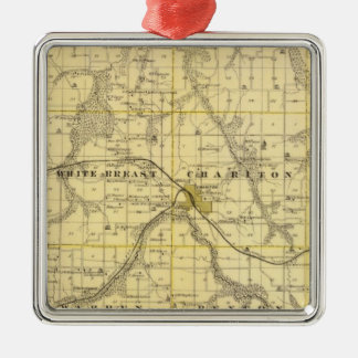 Map of Lucas County, State of Iowa Christmas Ornament