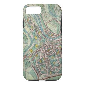 Map of Luxembourg, from 'Civitates Orbis Terrarum' iPhone 8/7 Case