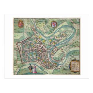 Map of Luxembourg, from 'Civitates Orbis Terrarum' Postcard