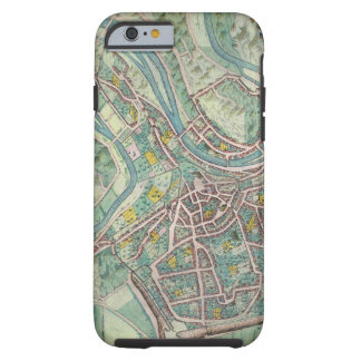 Map of Luxembourg, from 'Civitates Orbis Terrarum' Tough iPhone 6 Case