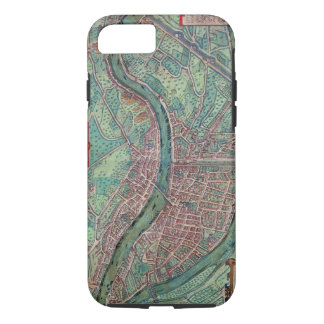 Map of Lyon, from 'Civitates Orbis Terrarum' by Ge iPhone 8/7 Case