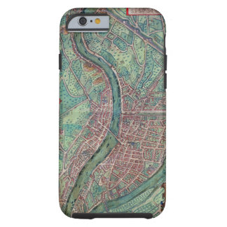 Map of Lyon, from 'Civitates Orbis Terrarum' by Ge Tough iPhone 6 Case