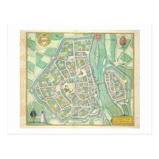 Map of Maastricht, from 'Civitates Orbis Terrarum' Postcard