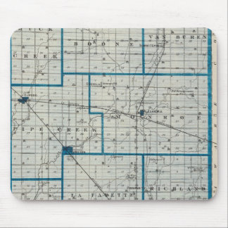 Map of Madison County Mouse Mat