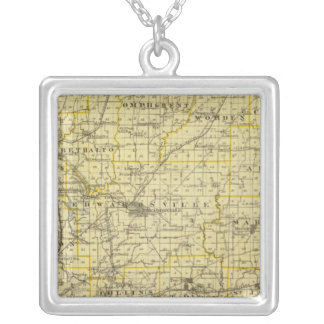 Map of Madison County Silver Plated Necklace