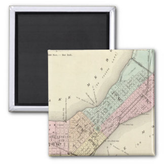 Map of Madison, Wisconsin Square Magnet