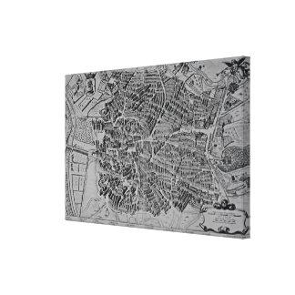 Map of Madrid Canvas Print